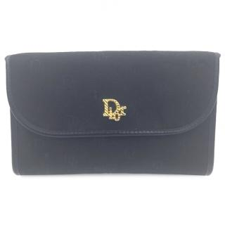 Vintage Christian Dior Black Clutch Bag Shoulder Bag Handbag
