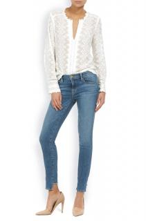 Frame Le Skinny de Jeane reverse raw staggered hem in Stilwell