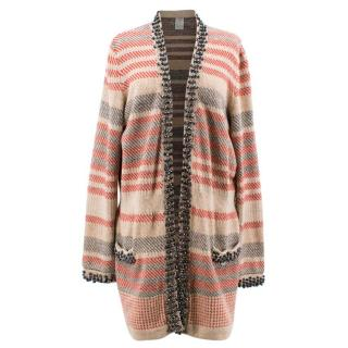 Chanel Multicolor Stripe Cardigan