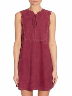 Vanessa Bruno 'Edane' Embellished Suede Dress