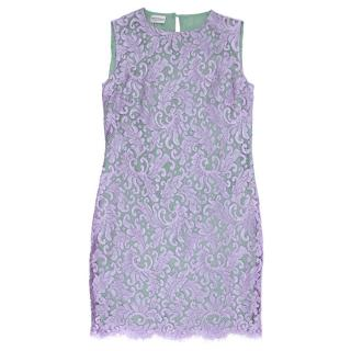 Philosophy di Alberta Ferretti Purple Lace Dress