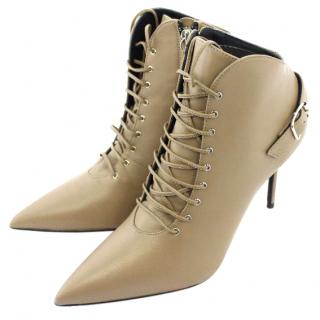 Giuseppe Zanotti Taupe Ankle Boots UK 3