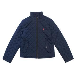 Polo Ralph Lauren Kid's Navy Quilted Jacket