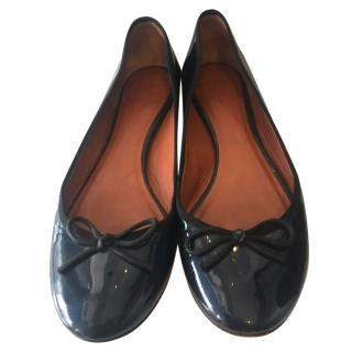 Celine Patent Leather Ballerinas