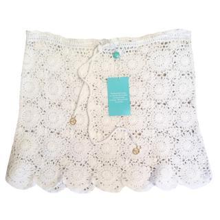 Melissa Odabash Adele white Crochet Skirt