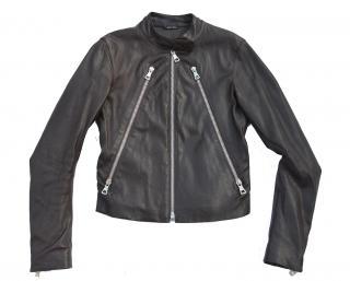 Maison Martin Margiela 5 zip leather biker jacket