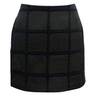 Phillip Lim Black and Navy Checked Mini Skirt