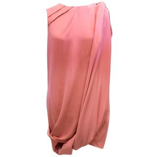 Gucci Pink Silk Draped Dress