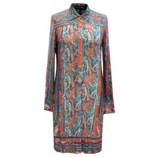 Isabel Marant Paisley Print Shirt Dress