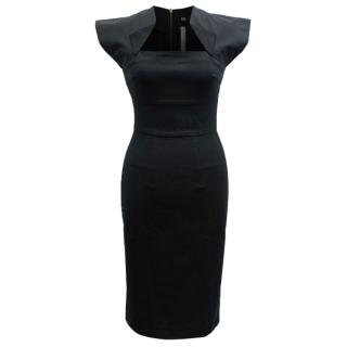 RM by Roland Mouret Black Structured Dress