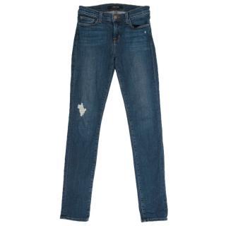 J Brand 620 Skinny Quantum Distressed Jeans