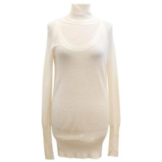 Christian Dior Boutique Cream Turtleneck