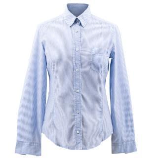 MaxMara Weekend Blue and White Pinstripe Shirt