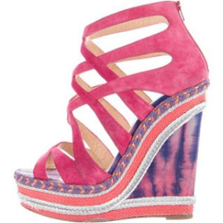Christian Louboutin Tosca Pink Heels Wedges
