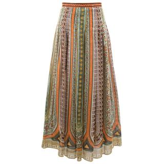 Valentino Tribal Print Maxi Skirt