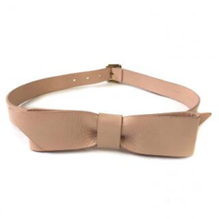 Chloe Nude leather Bow Belt