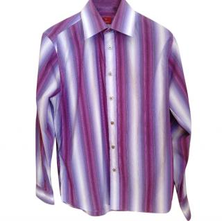 Oswald Boateng Multi Coloured Striped Men's Shirt
