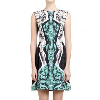 Peter Pilotto Silk Placement Print Dress