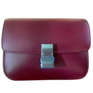 Celine Classic Box Bag Burgundy