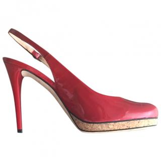 Giuseppe Zanotti Red Patent Leather Slingback