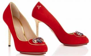 Charlotte Olympia Cosima Aries Red Pumps