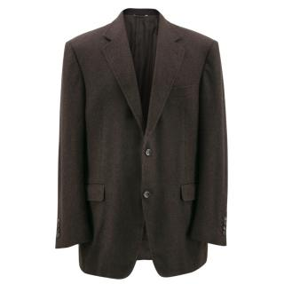 Canali Brown Cashmere Exclusive Collection Blazer