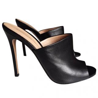 Gianvito Rossi Black leather mules