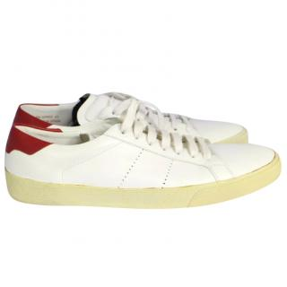 Saint Laurent, White Court Classic Sneakers