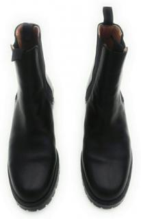 Hermes Black Leather Flat Ankle Boots