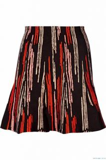 Issa Black Maisie Stretch Jacquard-knit Mini Skirt
