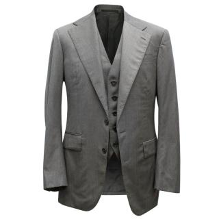 Ralph Lauren Black Label Men's Grey Blazer and Vest Set