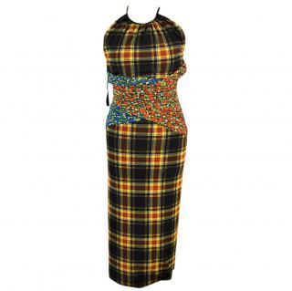 Versus Versace Check Dress