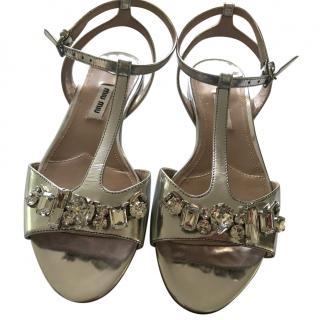 Miu Miu Jewelled Sandals