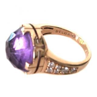 Bvlgari Parentensi Amethyst & Diamond Ring