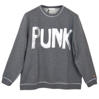 Bella Freud Punk Grey Sweatshirt
