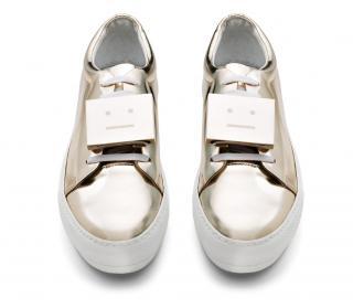 Acne Adriana Metallic light gold sneakers