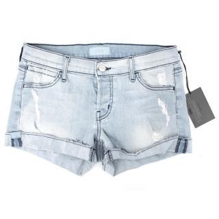 Koral Light Wash Cuffed Shorts