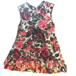 Dolce and Gabbana rose print cotton top