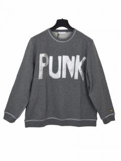 Bella Freud punk grey sweatshirt
