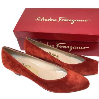 Salvatore Ferragamo Rust Suede Shoes