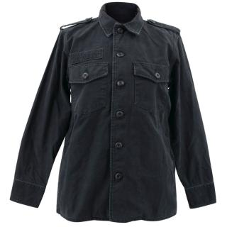 Kate Moss Equipment Black Major Shirt Jacket