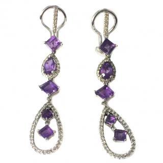 diamond & amethyst earrings