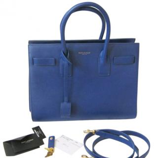 Saint Laurent blue sac de Jour tote