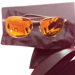 Victoria Beckham Mirrored Yellow Lens Sunglasses