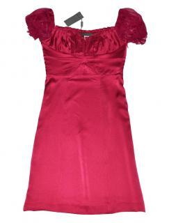 Alberta Ferretti Pink Silk Dress New