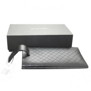 Bottega Veneta black woven leather sunglasses case