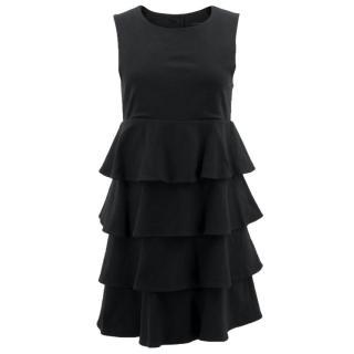 Theory Black Ruffle Dress