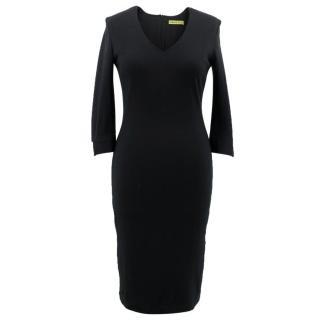 Versace Jeans Black Midi Dress