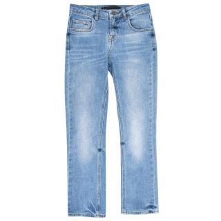 Victoria Beckham Light Wash Cropped Jeans