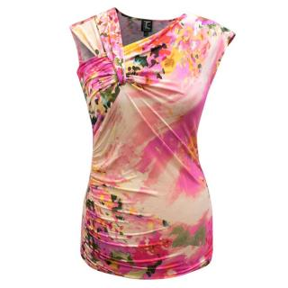 Tricot Chic Floral Jersey Top